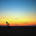 This Is Alberta No.14a - Prairie Oil Sunset by Paul W Sharpe Aka Wizard of Wonders
