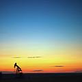 This Is Alberta No.14b - Prairie Oil Sunset by Paul W Sharpe Aka Wizard of Wonders