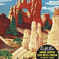 This Summer - Visit Bryce Canyon National Par, Utah, Usa - Retro Travel Poster - Vintage Poster by Studio Grafiikka