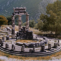 Tholos In Delphi by Jaroslaw Blaminsky