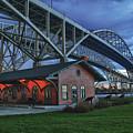 Thomas Edison Train Depot And Blue Water Bridges by Scott Bert