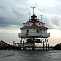 Thomas Point Shoal Lighthouse - Up Close by Ronald Reid