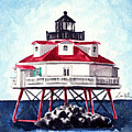 Thomas Point Shoal Lighthouse Annapolis Maryland Chesapeake Bay Light House by Laura Row