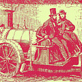 Thomas Rickett 1858 Steam Carriage Red by David King