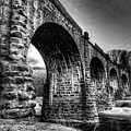 Thomas Viaduct In Black And White by Dennis Dame