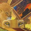 Those Eyes Lion by Darlene Green