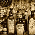 Those Old Apothecary Bottles In Sepia by Paul Ward