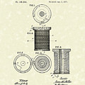 Thread Spool 1877 Patent Art by Prior Art Design