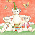 Three Bears Ready For The Party by Nareeta Martin