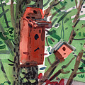 Three Birdhouses by Donald Maier