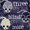 Three Blind Mice Children Chalk Art by Mindy Sommers