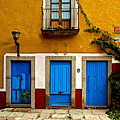 Three Blue Doors 2 by Mexicolors Art Photography