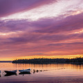 Three Boats In French Village, Nova Scotia #2 by Mike Organ