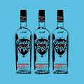 Three Bottles Of Nucky Rye Tee by Edward Fielding