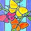 Three Butterflies by Jim Harris