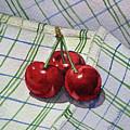 Three Sweet Cherries By Irina Sztukowski by Irina Sztukowski