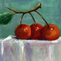 Three Cherries by Linda Hiller