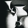 Three Clay Jars 1 by Carol Neal-Chicago