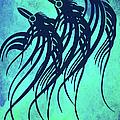 Three Crows Contemporary Minmalism by Georgiana Romanovna