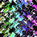 Three-d Dimensional Abstract Design by Janice Kaye