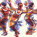 Three Dancers Of Tongatapu by Judith Kunzle