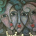 Three Faces  2015 by S A C H A -  Circulism Technique