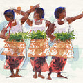 Three Fijian Dancers by Judith Kunzle