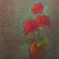Three Geraniums by Tom Forgione