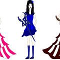 Three Girls by Clarish R