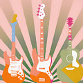 Three Guitars Pop Art by Dan Sproul