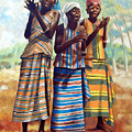 Three Joyful Girls by John Lautermilch
