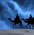 Three Kings Travel By The Star Of Bethlehem - Midnight by Gary Avey