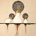 Three Ladies On A Dock  by C F Legette