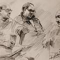 Three Men Chatting by Ylli Haruni