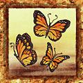 Three Monarch Butterflies by Irina Sztukowski