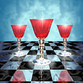 Three Of Cups by Greg Piszko