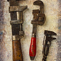 Three Old Worn Wrenches by Garry Gay