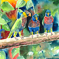 Three On A Branch by Arline Wagner