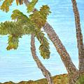 Three Palms At The Beach by Christine Dekkers