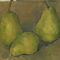 Three Pears by Paul Cezanne