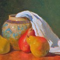 Three Pears With Persian Vase by David Olander