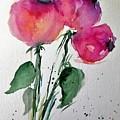 Three Pink Flowers 2 by Britta Zehm