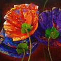 Three Poppies by Lynda Bee White