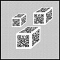 Three Qr Code Cubes by Charles Robinson
