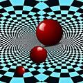 Three Red Balls by Sarah Loft