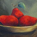 Three Red Pears  by Torrie Smiley
