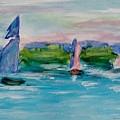 Three Sailboats by Jamie Frier