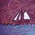 Three Sails And The Wind by Wayne Potrafka