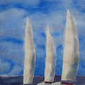 Three Sails by Patricia Caldwell