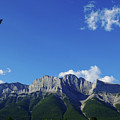 Three Sisters Ridges Canmore Alberta Gateway To Banff National Park by Wayne Moran